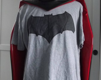 Robin of Arkham City style black leatherette pvc cape with or without hood - destiny anime cosplay - customisation offered