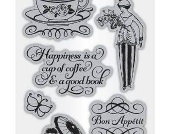 Cafe Parisian 3 - Cling Mounted Rubber Stamp Set from Graphic 45