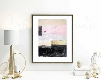 original abstract painting , gold leaf  painting from listed artist Jolina Anthony