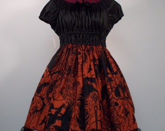 Raven's Feather Dress:  Red