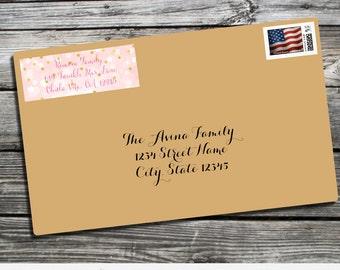 Address Label, Twinkle Twinkle Little Star Address Label, Printed Return Address Label, Envelope Mailing Labels, Star Personalized Label