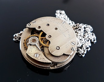 Vintage Pocket watch pendant - circa 1910 - Steampunk Inspired Timeless Relic