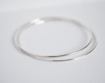 """Simple Sterling Silver Stacking Bangle • Dainty Minimal Subtle Understated Bracelet • """"STACKER BANGLE"""""""