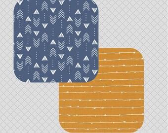 Custom Aztec Southwestern Style Nursery Curtains Navy
