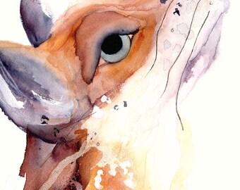 Fox Art Print, Wildlife Art Print, 12 x 16 Fox Art