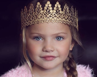 Lace Crown || Ready to Ship || Piper || full size lace crown || photography prop|| Toddler-Adult || custom sizes || WASHABLE