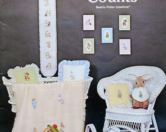 Beatrix Potter | Green Apple | PETER RABBIT COUNTS | Counted Cross Stitch Pattern | Chart | Booklet