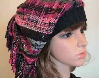 Raspberry Saori Hat