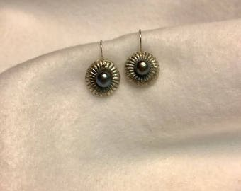 Handcrafted Fine Silver 999  Earrings with Natural Freshwater Pearl