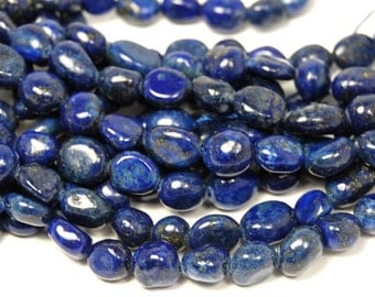 Lapis Lazuli Nugget Beads -15.5 inch strand