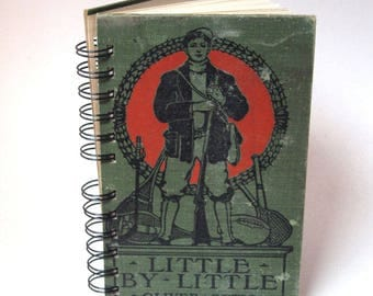 1888 LITTLE BY LITTLE Handmade Journal Vintage Upcycled Book