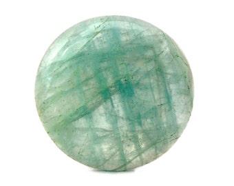 Aquamarine Cabochon Stone (25mm x 25mm x 5mm) 25cts - Round Cabochon - Natural Aquamarine - Blue Aquamarine