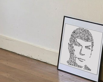 Mr Spock of Star Trek - Limited Edition Print - Intricate doodle drawing - the vulcan Scientist - Leonard nimoy
