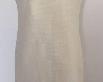 1960's Nelly Don shift dress off-white