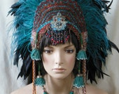Custom order for Tara Aztec Feathered crown last payment