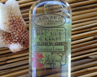 Coconut Lime-Macadamia Kukui Nut Body Oil-MADE IN HAWAII