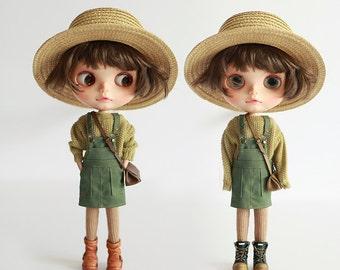 Missyo 2017 Winter & Spring - Bib Skirt for Blythe doll - Green