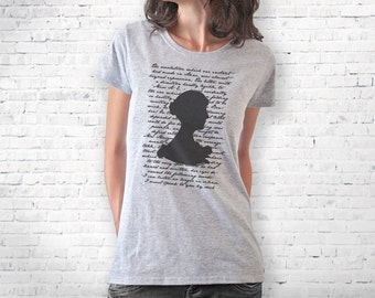 Jane Austen shirt-literary shirt-Jane Austen tank top-book quote tee-persuasion shirt-cool tank top-women tees-gift idea-NATURAPICTA-NPTS057