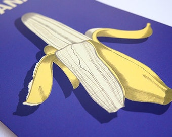Top Banana Celebration Blank Greeting Card