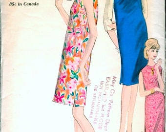 Versatile Vintage 1960s Vogue 5832 Sleeveless Sheath Shift Dress or Jumper and Blouse Sewing Pattern B32