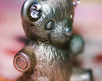 Teddy Bear Bling, fine art photo, signed by me