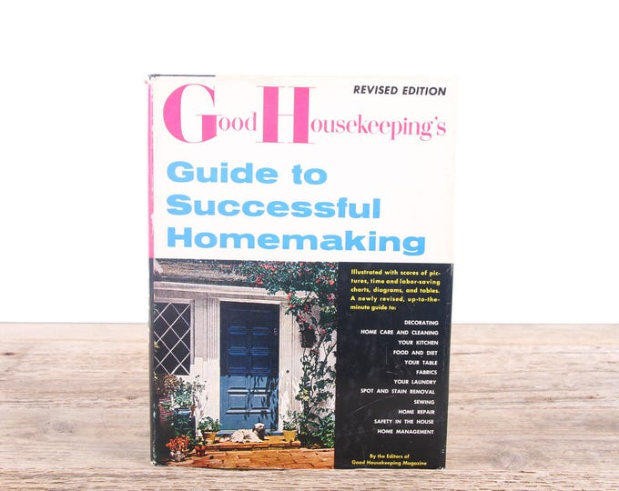 1961 Good Housekeeping Guide to Successful Homemaking / Antique Home Design Book / Vintage Americana Coffee Table Book Gift / Harper Book