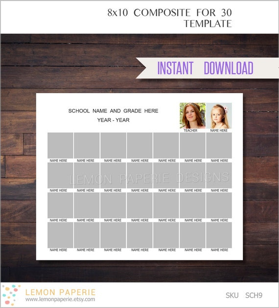 etsy shop policies template - 8x10 school composite template for 30 daycare template