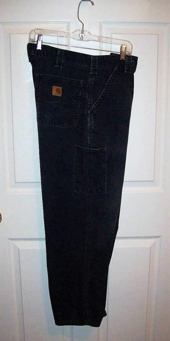 Vintage Men S Black Carpenter Painters Pants By Carhartt