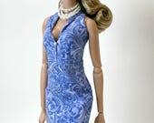 Paisley Print Halter Dress for Barbie & Fashion Royalty Dolls