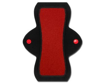 "Reusable Pantyliner (8"" Light - Red Jersey)"