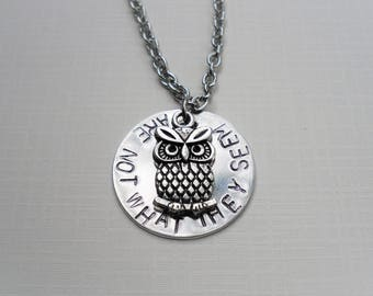 The Owls Are Not What They Seem - Twin Peaks Necklace