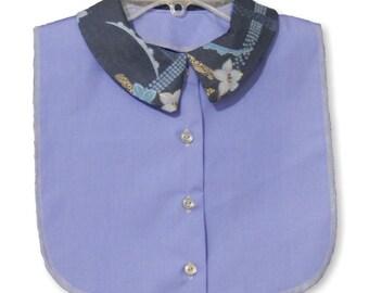 Periwinkle Blue Print Collar Dickey