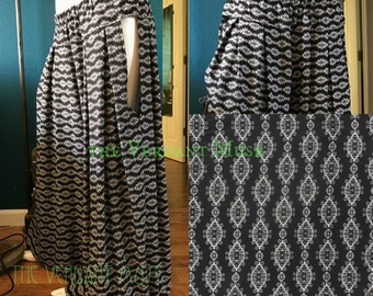 MADE TO ORDER Cutout Pantaloons in Your Size- Black and White Rayon Tribal Fusion Dance Harems