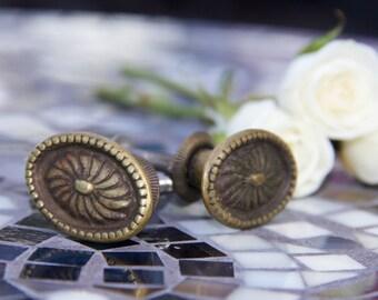 Vintage Beaded Decorative Knobs    Set of 2