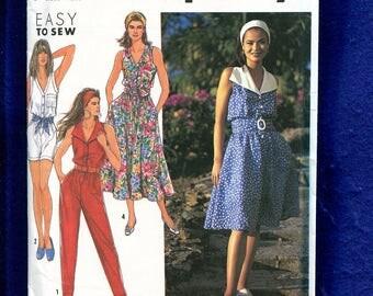 Simplicity 7328 Summer Romper Jumpsuit & Dress Pattern Size 4 to 12 UNCUT