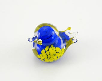 Art Glass Bird in Blue