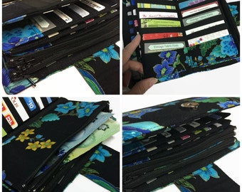 Women's Wallet, Credit Card Holder, Peacock Wallet, Budget System Wallet, Dave Ramsey Envelope System, Travel Wallet, Cash Envelope Wallet