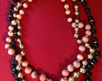 Amazing Valentino Long Beaded Runway Necklace with Statement Clasp - 1960s - Authentic