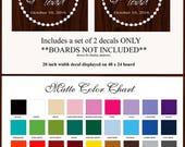 Wedding Decor  - Cornhole Game Vinyl Decal 39+ Colors