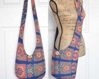 Hobo Bag Cross Body Bag Boho Bag Sling Bag Hippie Purse Tapestry Hobo Purse Bohemian Purse Hippie Bag Handmade Bag Slouch Purse Fabric Purse