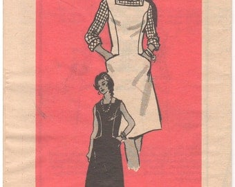 1960s - Annie Adams 4934 Mail Order Vintage Sewing Pattern Size 14 1/2 Bust 37 Jumper Dress Sleeveless Pockets Panels