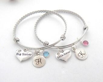 Big Sister Bracelet, Little Sister Bracelet, Big Sister Jewelry, Sorority Jewelry, New Sister Gift, Big Sis, Little Sis, Sorority sister
