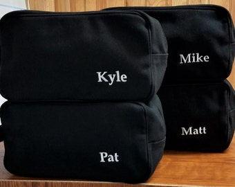 Set of 13 Mens Canvas Toiletry Bags Travel Cases Groomsmen Gifts