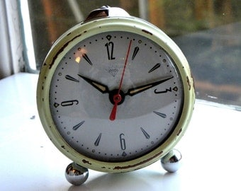 Vintage Small Clock - Green Bedroom Clock - Clock Made in China