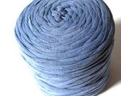 T-shirt yarn - Chunky, bulky, thick cotton 135 yds, 120 m (approx.) - blue, denim, medium blue