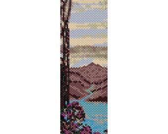 Lake 4 Peyote Bead Pattern, Bracelet Cuff Pattern, Bookmark Pattern, Seed Beading Pattern Miyuki Delica Size 11 Beads - PDF Instant Download