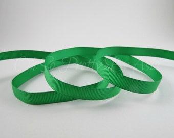"Emerald Green Ribbon - Green - 3/8"" 7/8"" or 1 1/2"" Grosgrain - You Choose Length & Width -  Bow, Scrapbooking, Sewing, Art Craft Supplies"