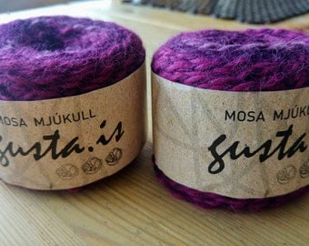 Violet Mosa Mjúkull - New Icelandic Wool and Peruvian Alpaca, Worsted Yarn - 75 g  (2.6 oz) - 121 m