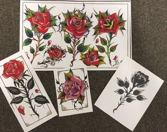 Rose Print set