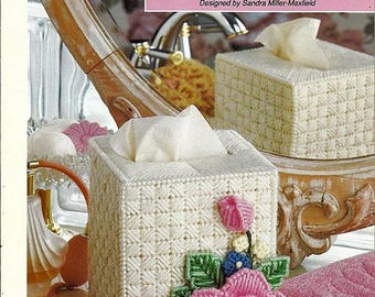 Rose Tissue Cover Plastic Canvas Patterns Book The Needlecraft Shop 913315